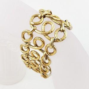 J. Crew Statement Bracelet Cuff Gold Tone
